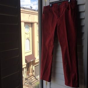 Red stretch cotton Ralph Lauren jeans
